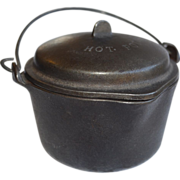 Wagner Ware Sidney Cast Iron HOT POT with Lid and Bail Number 1364