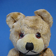 "8.5"" Vintage Plush Fabric Jointed Teddy Bear Probably Japanese c1950s"