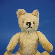 "REDUCED Small 7"" C1950 Steiff white Teddy Bear Vintage"