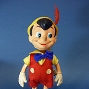 "REDUCED 9"" Dakin Walt Disney Pinocchio Doll Figure Vintage Vinyl Doll C1970s"