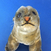 C1960s Steiff Robby Seal Mohair Vintage Toy