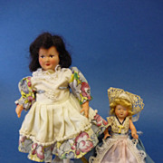 Pair of French Peticolin Celluloid Dolls C1940s