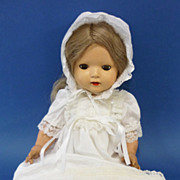 C1940s English All Composition Doll Vintage Toy