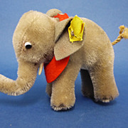REDUCED C1950s Steiff Elephant with Tags ID 6310 Vintage Toy