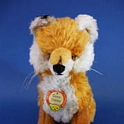 REDUCED 8.5&quot; Steiff Cosy Fuzzy Fox Vintage Soft Toy c1970