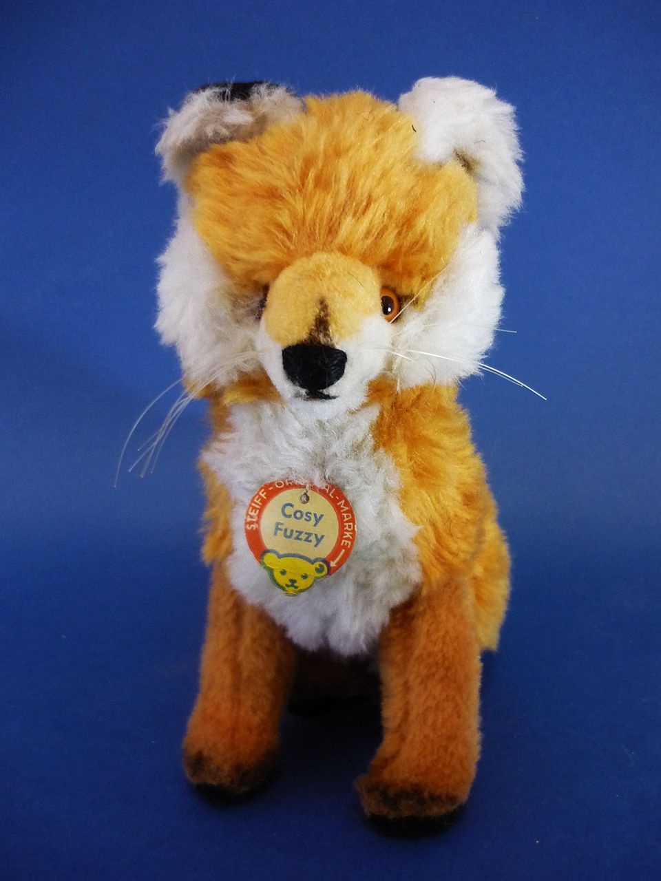 8.5&quot; Steiff Cosy Fuzzy Fox Vintage Soft Toy c1970