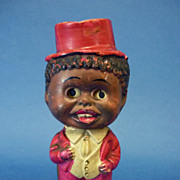 REDUCED Small Japanese Celluloid Black Doll with Wobbly Eyes