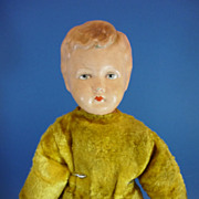 REDUCED 16&quot; Rare Merrythought Papier Mache Head Doll c1940 English Vintage