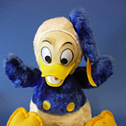 C1960s Vintage Donald Duck Soft Toy Walt Disney