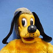 C1960 Plush Fabric Pluto Disney Toy by Joy-Toy of Australia