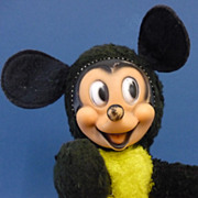 "12"" Vintage Plush Fabric Mickey Mouse by Gund Disney Vintage Toy"