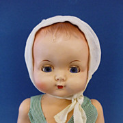 "Big 21"" Roddy Walker Doll C1950 Hard Plastic Vintage English Toy."