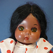 C1960s Hard Plastic Reliable Indian Doll Made in Canada