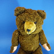 "REDUCED 19"" Hermann Cinnamon Coloured Plush Teddy Bear German c1950"