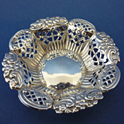 SALE PENDING Solid Sterling Silver Pin Dish Late Victorian Birmingham 1900 Henry Williamson