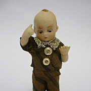 Very Cute All Bisque Boy  Doll by Limbach Marked P.48 German