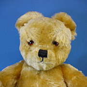 "SALE PENDING 17"" J.K Farnell Golden Mohair Teddy Bear c1960 English"