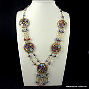Huge Venetian Millefiore Necklace