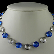 Deco Open Back Large Crystals Necklace
