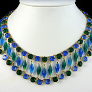Vintage Bead and Rhinestone Collar