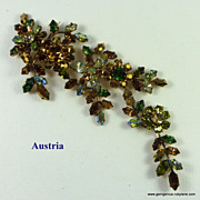Stunning Austrian Crystal Articulated Brooch