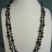 Miriam Haskell long bead necklace