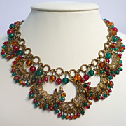 Dramatic Beaded Bib Necklace