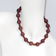 Vintage Runway assorted BAKELITE Bead long NECKLACE