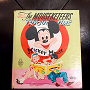 SOLD 1956 Walt Disney's the Mouseketeers Tryout Time book