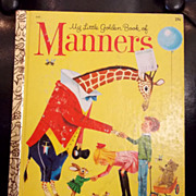1962 Manners A Little Golden Book