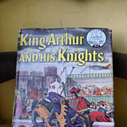 Vintage 1953 King Arthur and His Knights World Landmark Book