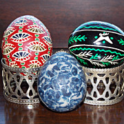 SALE Set of 3 Vintage Decorated Eggs
