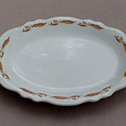 Homer Laughlin Autumn Princess pattern Platter