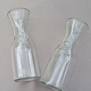 Set of 2 Glass Water/Juice/ Wine Carafes - half Liter