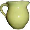 Cornelison Pottery Pitcher, Yellow Glaze
