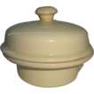 French Yellow Ware Pate Pot w/ Lid