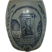 Stoneware Water Cooler, Early 20th C., 'Rebecca at the Well', Robinson Ransbottom