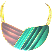 "TRIFARI 70"" Enamel Clip Necklace"