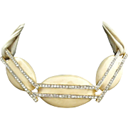 Alexis Kirk amazing enamel cream Necklace