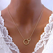 Mother Daughter Necklace Gold Filled Mother Son Child