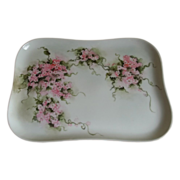 Limoges France Hand Painted Dresser Tray 1900-1920