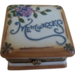 Adorable Porcelain Trinket Box, Memories 1890's-1910 Germany