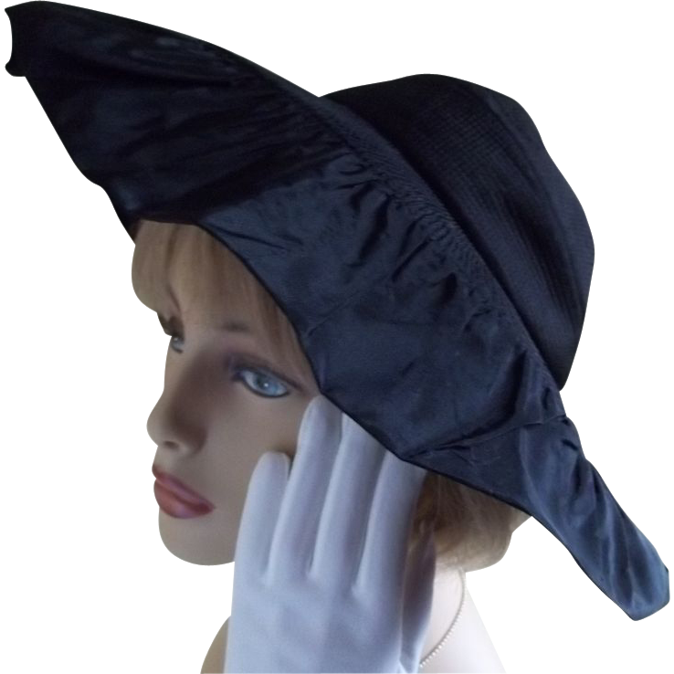 New York Creation 1950 Vogue Black  Hat