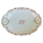 1800's CFH/GDM Haviland Limoges Hand Painted Oval Serving Bowl 1891-1900