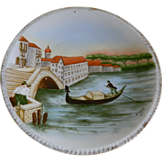 Heinrich & Company Bavaria Hand Painted Plate, Signed J. Weber 1911