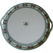 Beautiful Hand Painted  Noritake Nippon Cake Plate/Tray 1911-1921