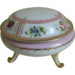 Charming Noritake Nippon Three Footed Hand Painted Vanity Jar 1906-1921