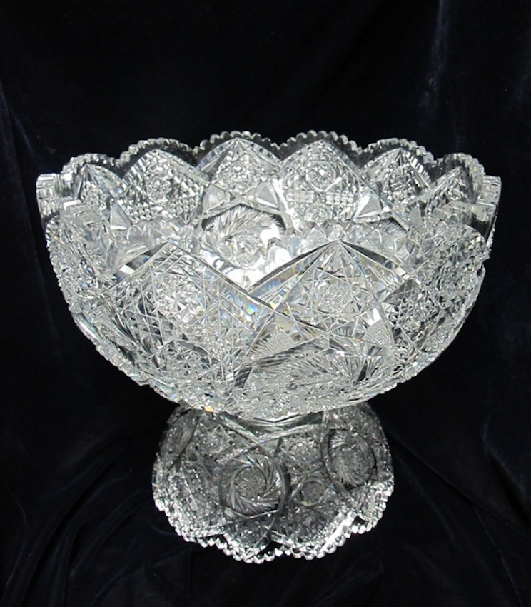 Brilliant Cut Glass Punch Bowl Glass Punch Bowl And Stand