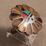 Zuni Pawn Sun Face Ring