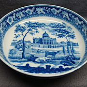 "American Historical Staffordshire11 1/2"" Serving Bowl Boston State House by Rogers, c. 18"